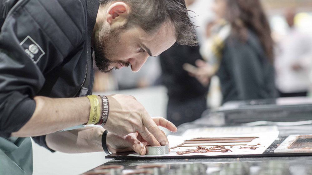 Florent Cheveau creating his Fresh Patisserie of Futropolis